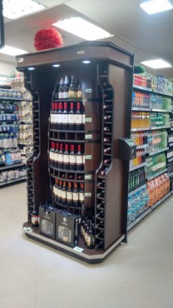 Expositor de Bebidas Art-Market ref: art29 - Cristal Aço