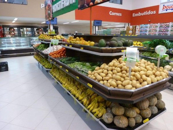 Expositor de Centro para Alimentos Art-Market ref: art32 - Cristal Aço
