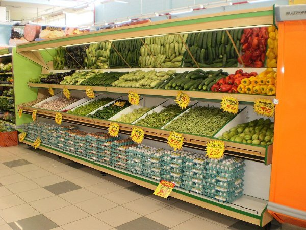 Expositor para Verduras e Alimentos Art-Market ref: art33 - Cristal Aço