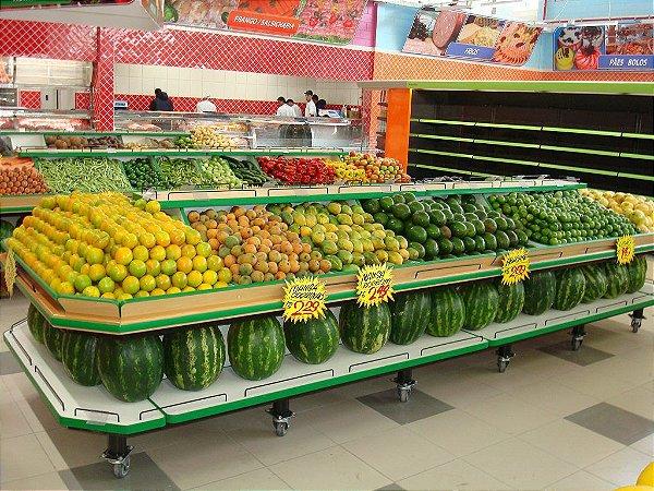 Expositor para Frutas e Alimentos Art-Market ref: art34 - Cristal Aço