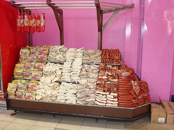 Expositor para Frios e Alimentos Art-Market ref: art35 - Cristal Aço
