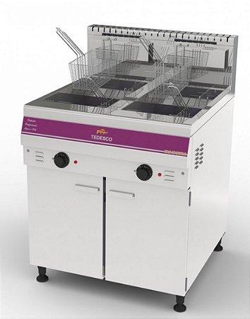 Fritador Profissional Fao-18 - Duplo 4 Cestos / 2 Cestos Por Tanque De Fritura