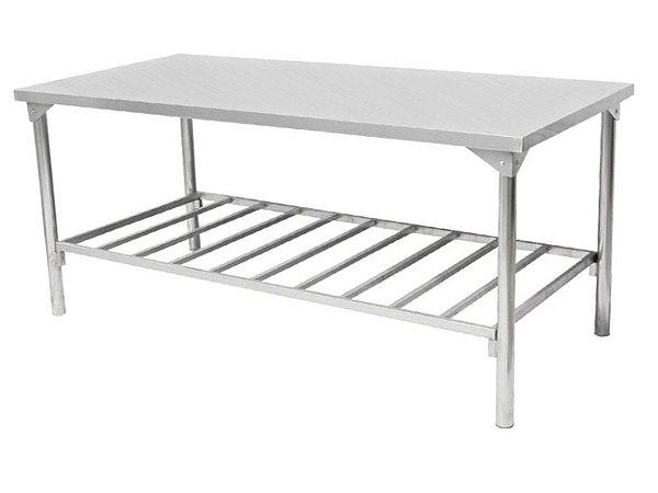 Mesa com prateleira inferior - Totalmente em Aço Inox 430 ou 304 - Innal