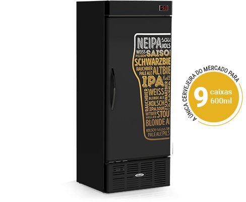 Cervejeira Refrigerada Black Light Estilos - CRV-600/LE Conservex