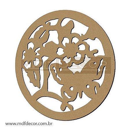 Mand-006 - Mandala Flor Com Borboleta