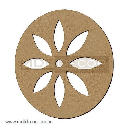 Mand-022 - Mandala Mdf Simple Flower
