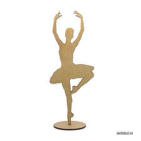 Bailarina Em Mdf Para Decoração - Modelo 01