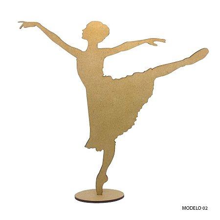 Bailarina Em Mdf Para Decoração - Modelo 02