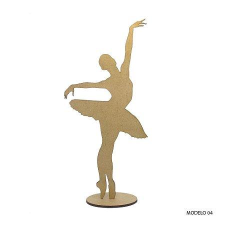 Bailarina Em Mdf Para Decoração - Modelo 04