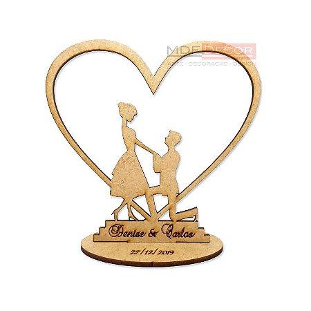 KIT 10 CENTROS DE MESA - Casamento - Noivado - Lembrança MDF 12cm