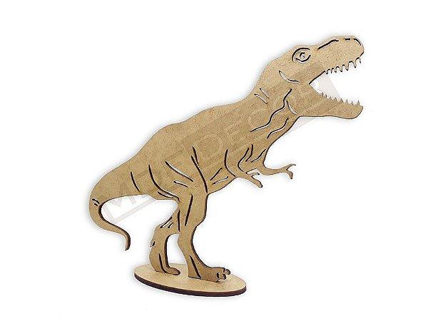 Dinossauro Tiranossauro Rex Mdf 15 Cm - Decoração