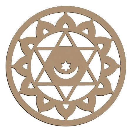 Mandala de Mdf Islamica - Mand-058