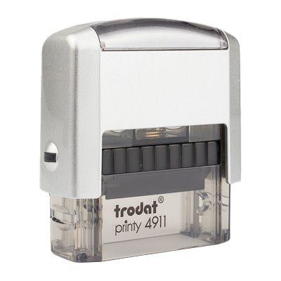 Carimbo Personalizado Trodat Printy 4911 P2 - Prata/Fumê