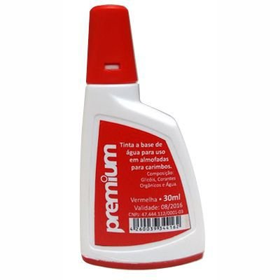 Tinta para Carimbo Auto-Entintado Premium - Vermelha