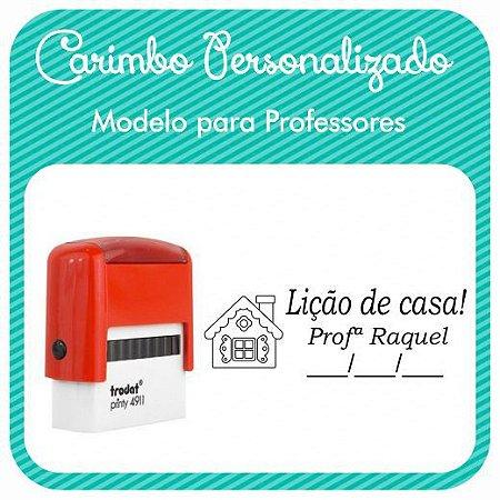 Carimbo Personalizado para Professores - Modelo PRF-06