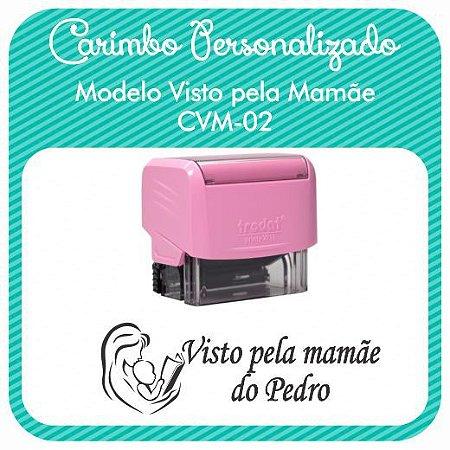 Carimbo Personalizado Visto pela Mamãe - CVM-02