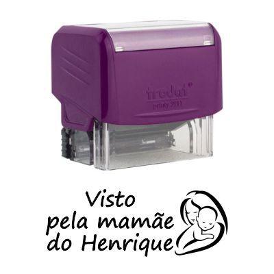 Carimbo Personalizado Visto pela Mamãe - CVM-04