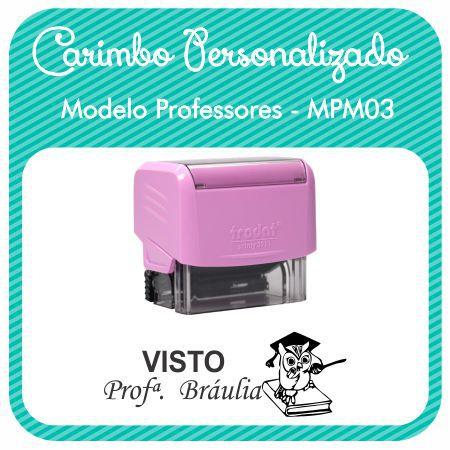Carimbo Personalizado Modelo Professores - MPM03
