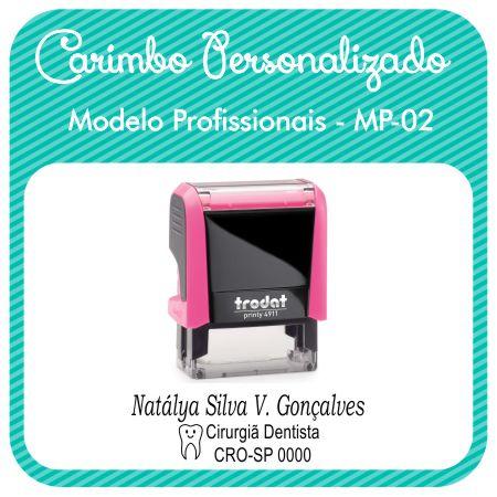Carimbo Personalizado Modelo Profissionais - MP-02