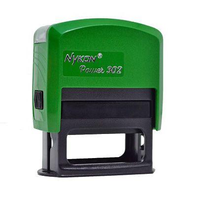 Carimbo Automático Nykon Black 302 - Verde