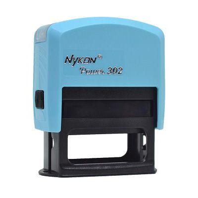 Carimbo Automático Nykon Black 302 - Azul Bebê