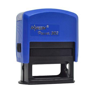 Carimbo Automático Nykon Black 302 - Azul