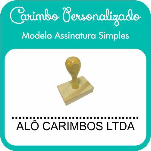 Carimbo de Madeira Personalizado Modelo 03