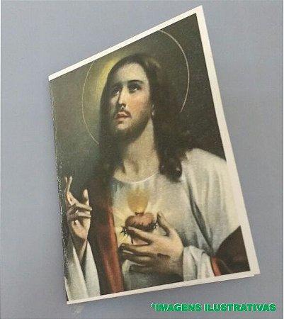 SANTINHO MISSA 15X10 COLORIDO FRENTE E VERSO