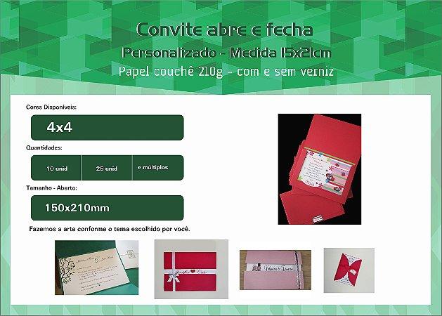 Convite 15x21 cm