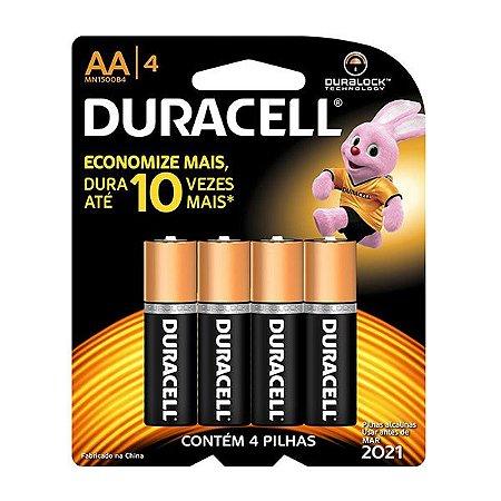 Pilha AA Alcalina 4 un - Duracell