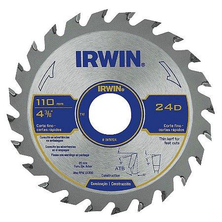 Disco Serra Circular 4.3/8 X 24 D X 20 mm - Irwin
