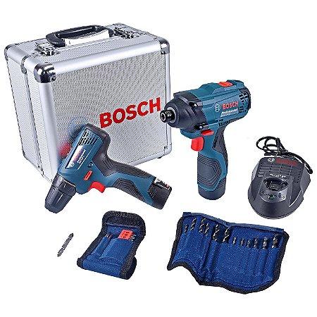 Furadeira/ Parafusadeira 3/8 Gdr120-Li e Parafusadeira Impacto 1/4 Gsr120-Li 12V Bivolt - Bosch