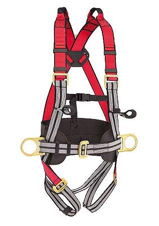 Cinto de Poliester tipo Paraquedista com 4 Pontos de Ancoragem - Steelflex