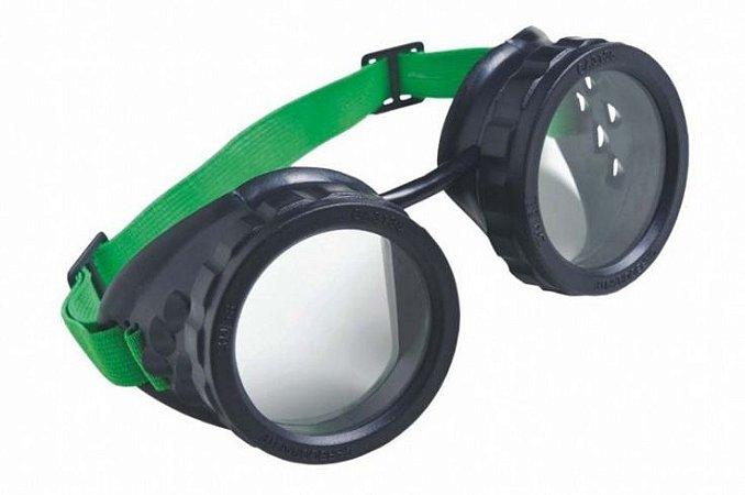 Óculos Maçariqueiro de Lente Redonda Tonalidade 6 com Elástico - Carbografite