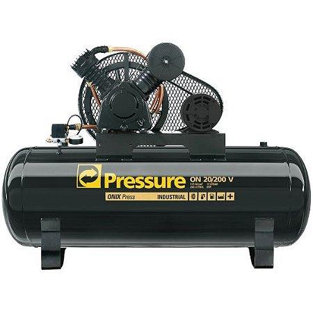 Compressor de 20 Pés 200 Litros APV Com Motor Trifásico 5 HP - Pressure