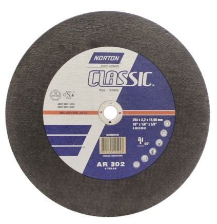 "Disco para Ferro de 10"" x 5/8 Classic - Norton"