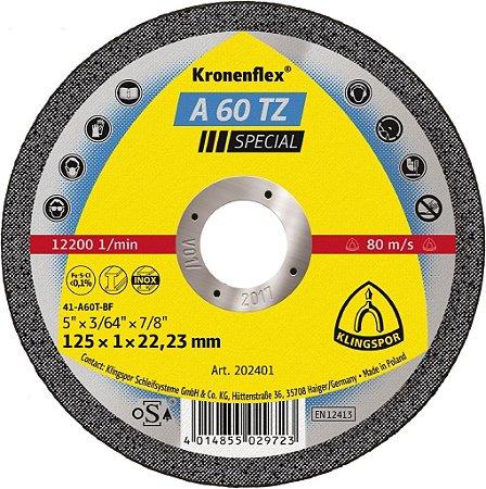 Disco para Inox de 4.1/2 x 1,0mm x 7/8 A60TZ Extra Classe Industrial - Klingspor