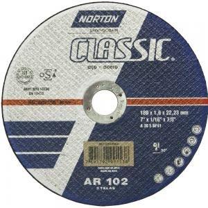 "Disco para Inox de 7"" x 1,6mm x 7/8 Classic - Norton"
