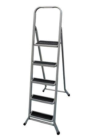 Escada de Aço Residencial de 5 Degraus - Metalmix