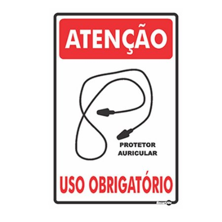 Placa 20 X 30 Uso Obrigatório Prot Plug - Encartale