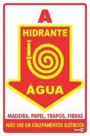 Placa 20 X 30 F.L Hidrante e Água