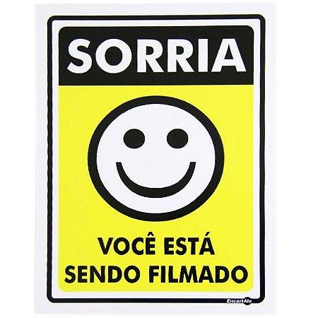 Placa 15 X 20 Sorria Você Está Sendo Filmado - encartale