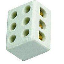 Conector para Fio de 10mm com 3 Polos em Porcelana - Interneed