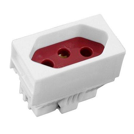 Módulo 1 Tomada 20A Vermelha Slim - Ilumi