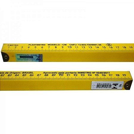 Metro Padrão PVC de Balcão 1M Inmetro - Plastimetro