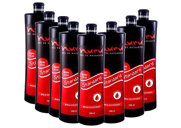 Kit para massagem  sensual nuru uso  Profissional caixa com 08 unidades de 1000ml Standard