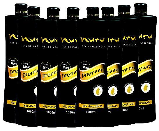 Kit para massagem sensual nuru Profissionais caixa com 08 unidades de 1000ml