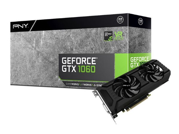 Geforce Pny Nvidia Gtx 1060 Dual Fan 3Gb Ddr5 192Bit 8008Mhz
