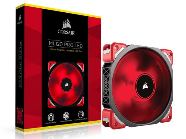 Cooler fan corsair ml 120 mm pro CO-9050042-WW Com led vermelho