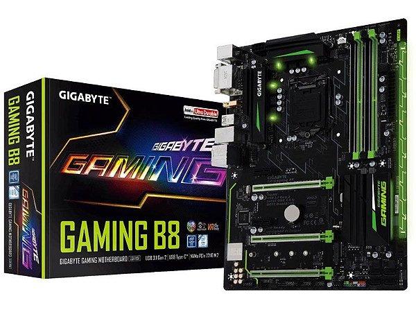 Placa Mãe Lga 1151 Intel Gigabyte Ga-Gaming B8 Atx Ddr4 Usb 3.1